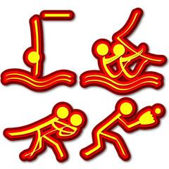 Sports Icons (Diving/Sailing/Judo/Softball)