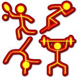 Sports Icons (Tennis/Athletics/Gymnastics/Weightlifting) poster
