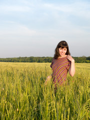 Teen lady in Field