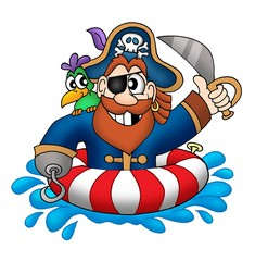 Pirate in swimming ring