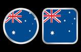 Australia flag icon poster