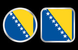 Bosnia and Herzegovina flag icon poster