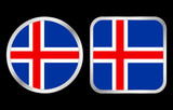 Iceland flag icon poster