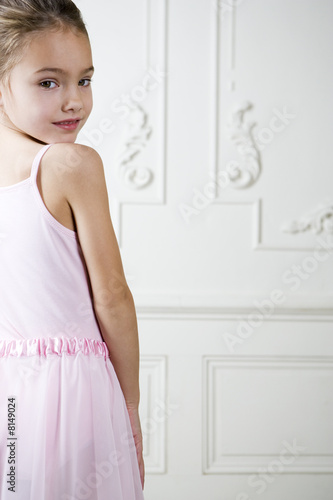 Portrait of a young girl in a ballet tutu