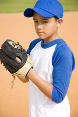 Boy preparing to throw baseball
