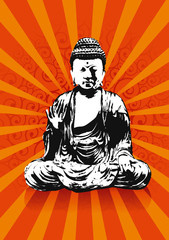 buddha rays back