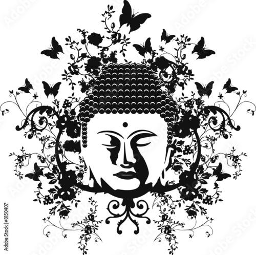 buddha spring monochrome