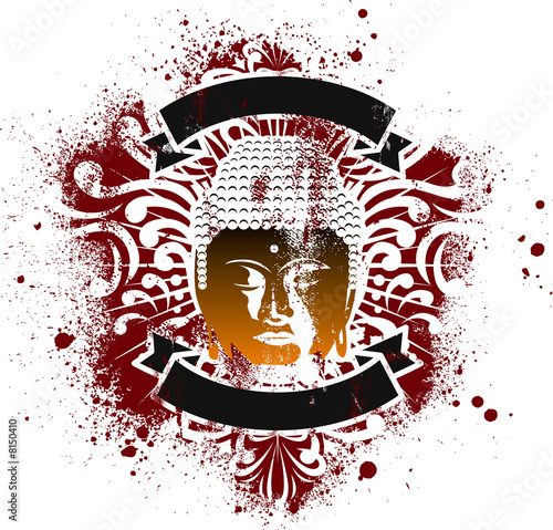 buddha grunge emblem