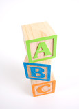 Colorful Wooden ABC Blocks poster