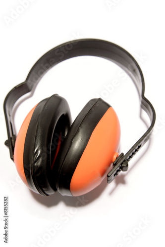 Ear protectors over white