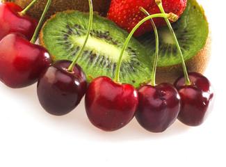 Cherry, kiwi and strawberry