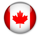 Fototapety Canadian flag button
