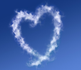 cloud forming a heart