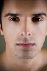 Portrait of a young man looking pensive