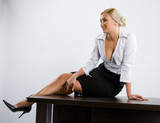 Blonde In An Office poster