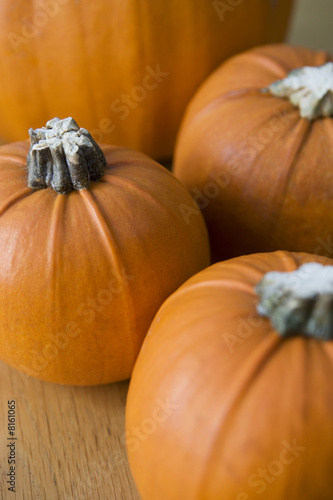 Orange Hallowe'en pumpkins