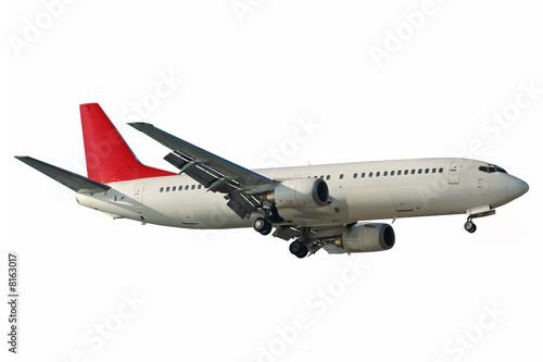 Deurstickers Vliegtuig isolated aircraft