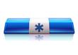 Rampe lumineuse bleu ambulance