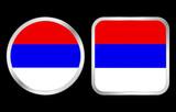 Serbia flag icon poster