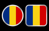 Romania flag icon poster