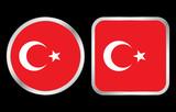 Turkey flag icon poster