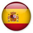 canvas print picture - Spanish flag button