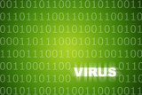 Virus Alert Green Abstract Background poster