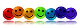 Fototapety Rainbow Smileys