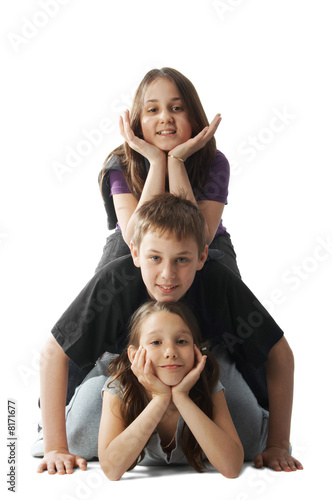 Children pileup