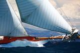 Fototapety voilier bateau régate port mer méditerranée côte d'azur provence