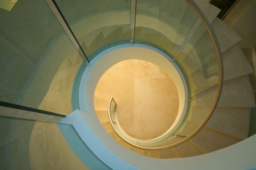 Majestic Spiral Staircase Abstract