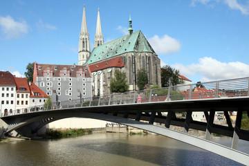 Görlitz - Altstadtbrücke mit Peterskirche