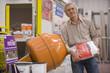 Man shopping in hardware store, portrait