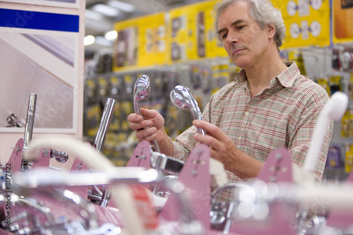 Man shopping in hardware store