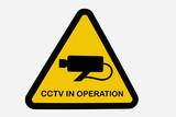 cctv sign poster
