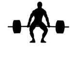 Weightlifter with reflection poster