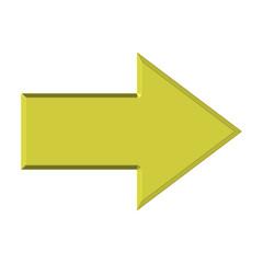 Freccia dorata tridimensionale