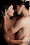 Intimate young lovers poster
