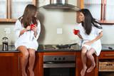 Sexy brunette roommates