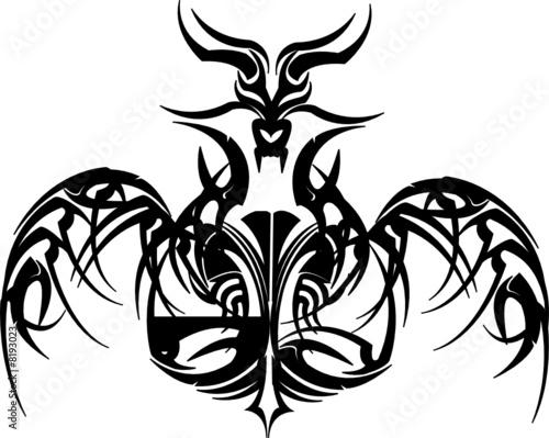 fire dragon tattoo. Skull Dragon Tattoo