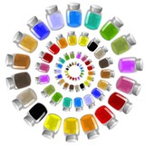 coloured inks wheel