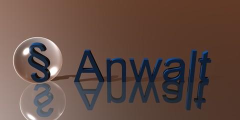 3D Schriftzug Anwalt