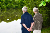 grandparents watching the lake poster