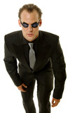 Successful young businessman wearing goggles poster