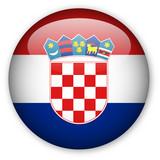 Croatian flag button poster