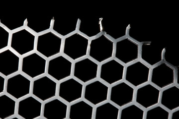 Metal Background hex pattern