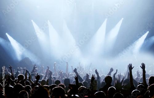Fotobehang Uitvoering Fans und Scheinwerfer