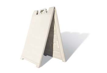 Blank White Tent Sign