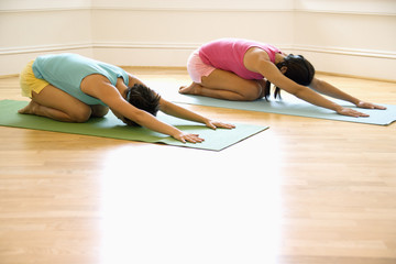 Women in yoga workout