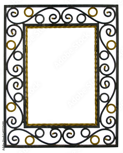 cadre photo fer forg photo libre de droits sur la banque d 39 images image 8222695. Black Bedroom Furniture Sets. Home Design Ideas